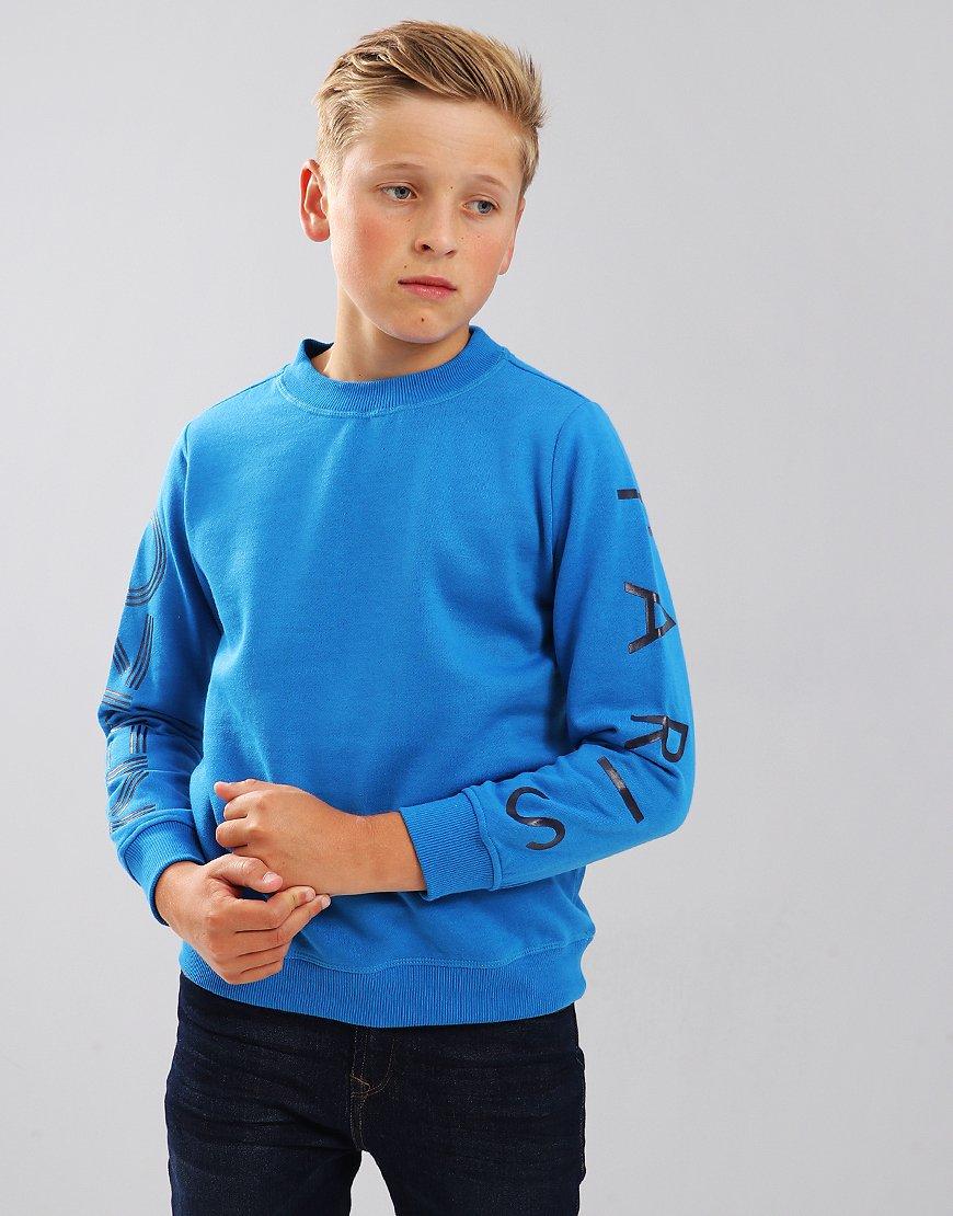 Kenzo Kids JB3 Arm Logo Sweatshirt Vivid Blue