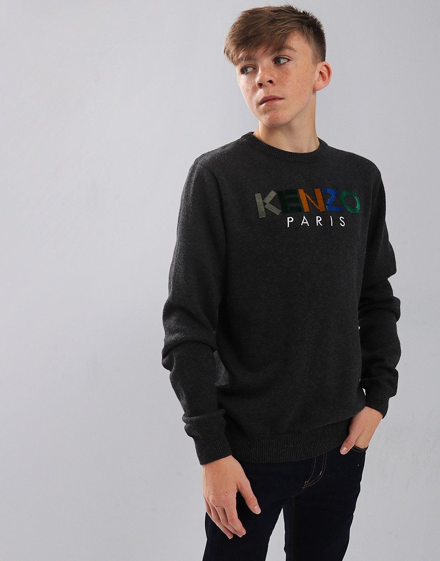 Kenzo Kids Paris Cosmic Jumper Dark Marl Grey