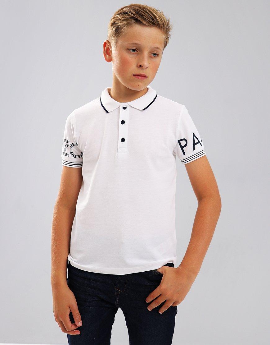 Kenzo Kids JB2 Logo Polo Shirt White