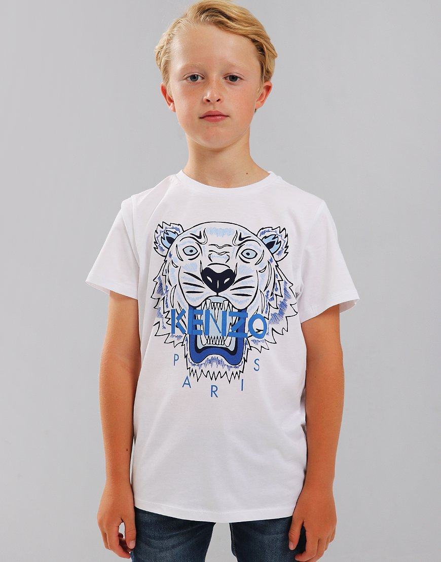 Kenzo Kids JB1 Tiger Logo Print T-Shirt White