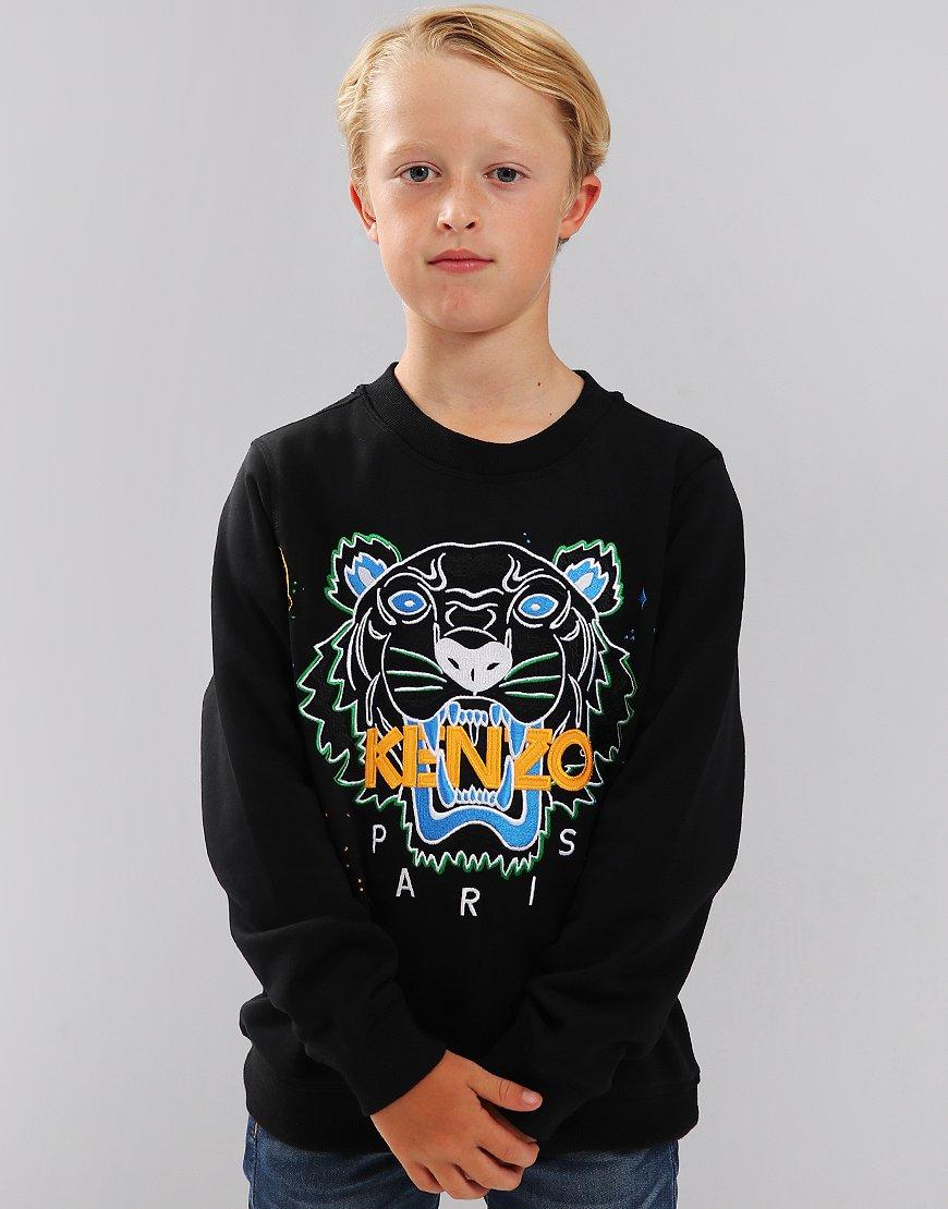 Kenzo Kids Tiger Logo JB6 Sweatshirt Black