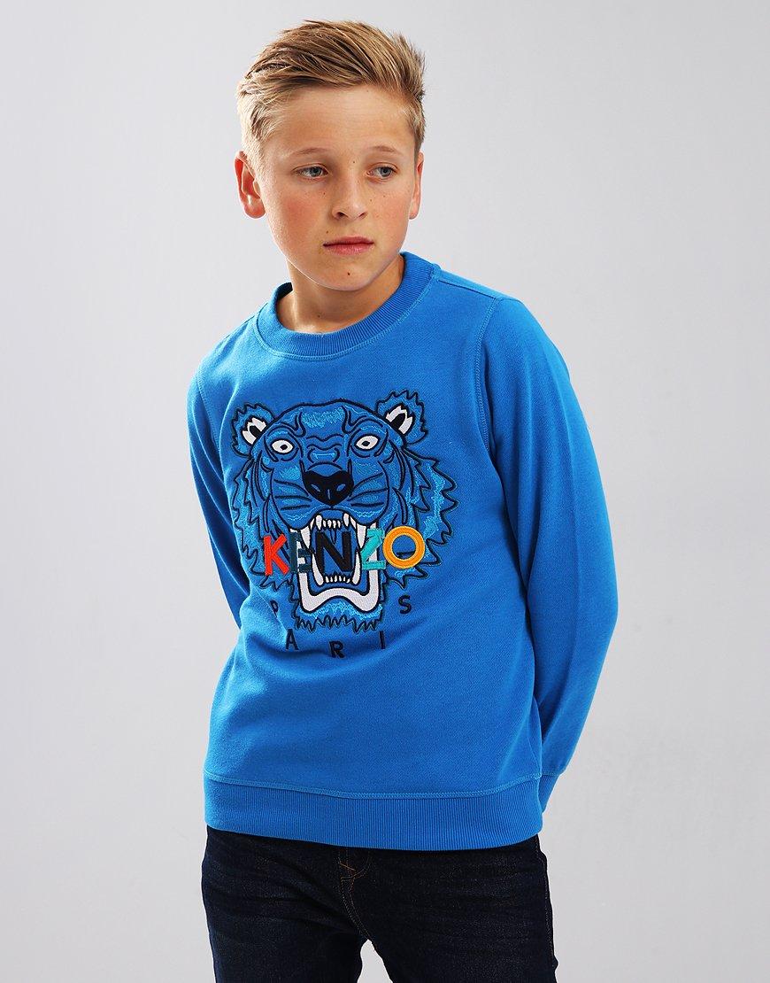 Kenzo Kids Tiger Logo JB7 Sweatshirt Vivid Blue
