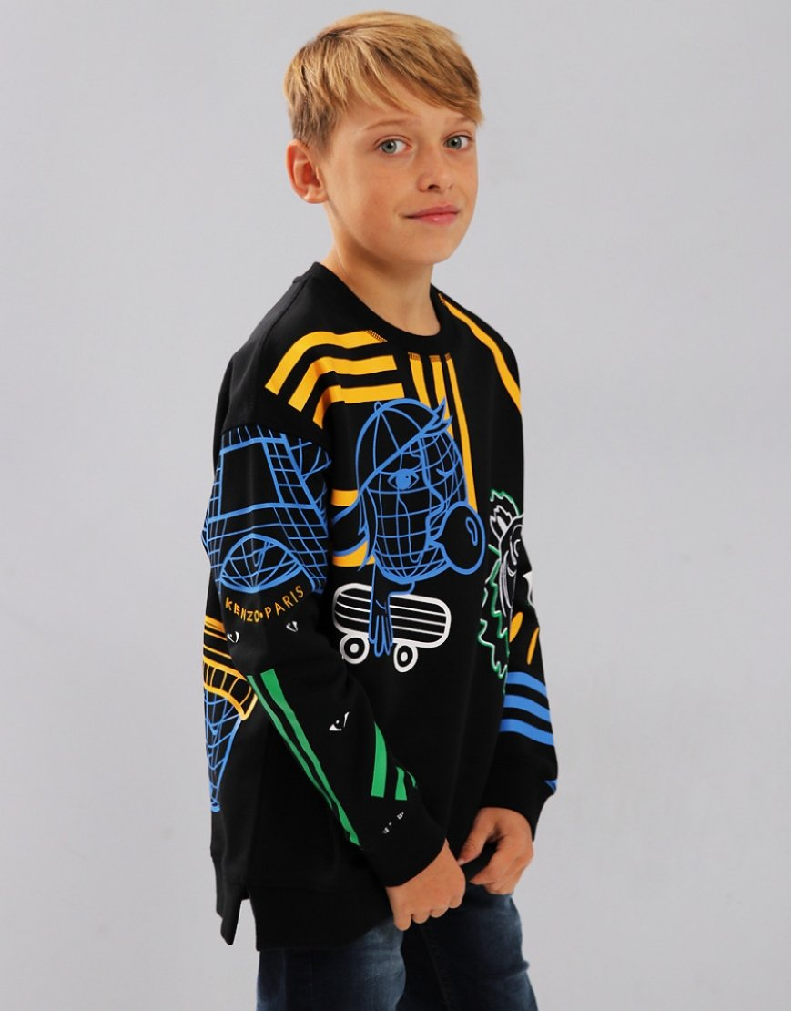 Kenzo Kids Emery Cosmic Sweat Black