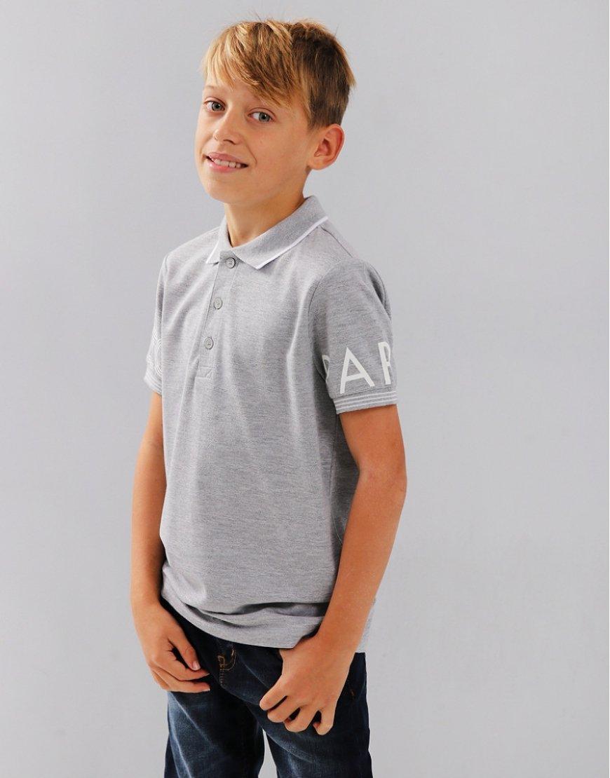 Kenzo Kids JB2 Logo Polo Shirt Marl Grey
