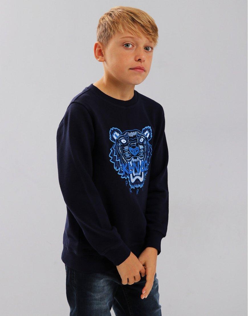 Kenzo Kids Tiger Logo JB2 Sweatshirt  Navy