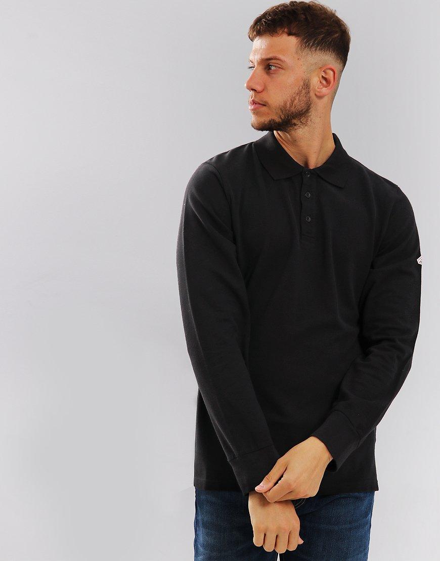 Pyrenex Long Sleeve Laurel Polo Shirt Black