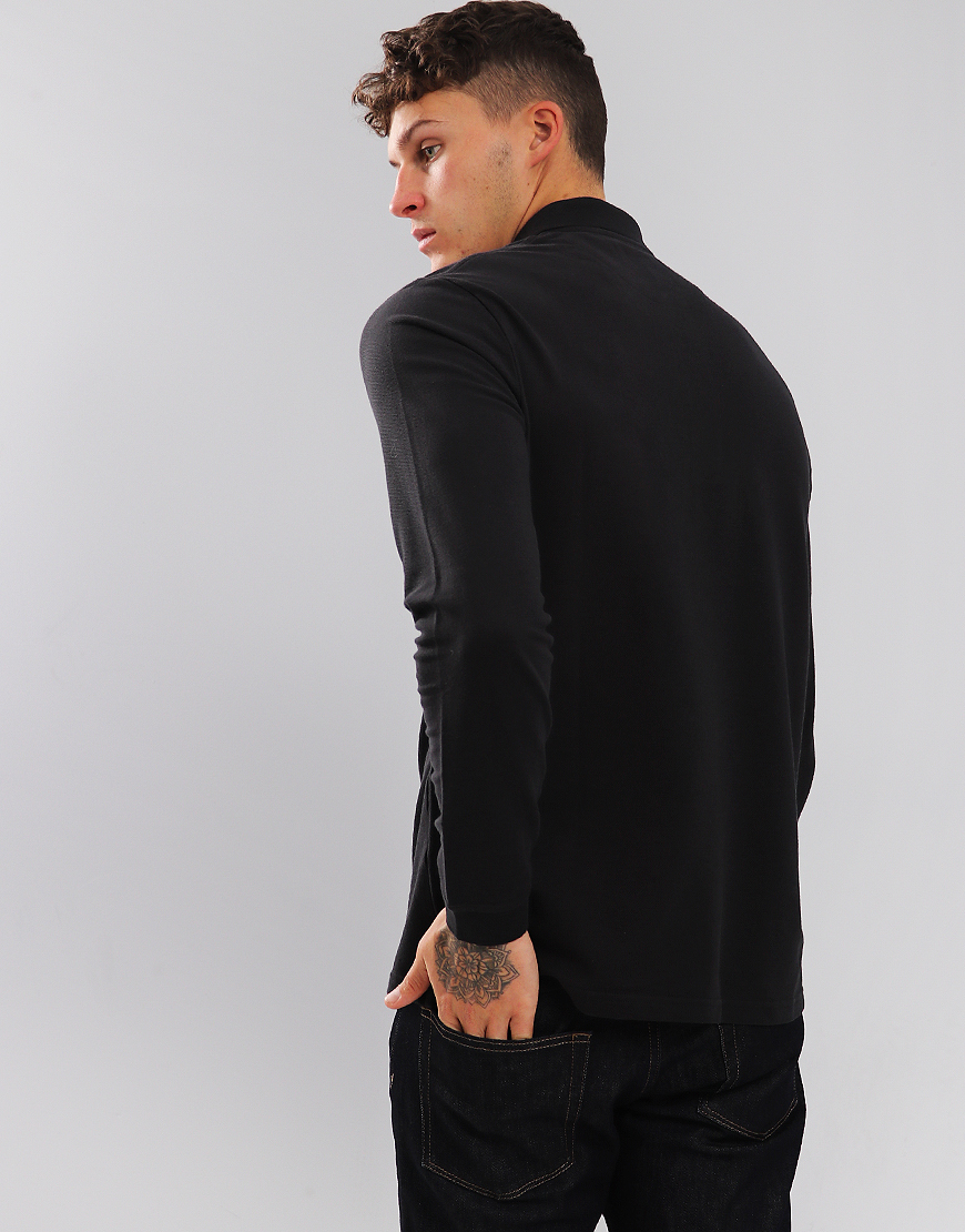 Lyle & Scott Long Sleeve Polo Shirt True Black