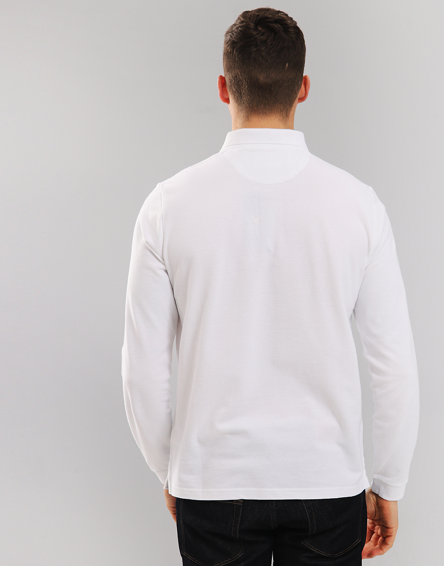 Lyle & Scott Long Sleeve Polo Shirt White