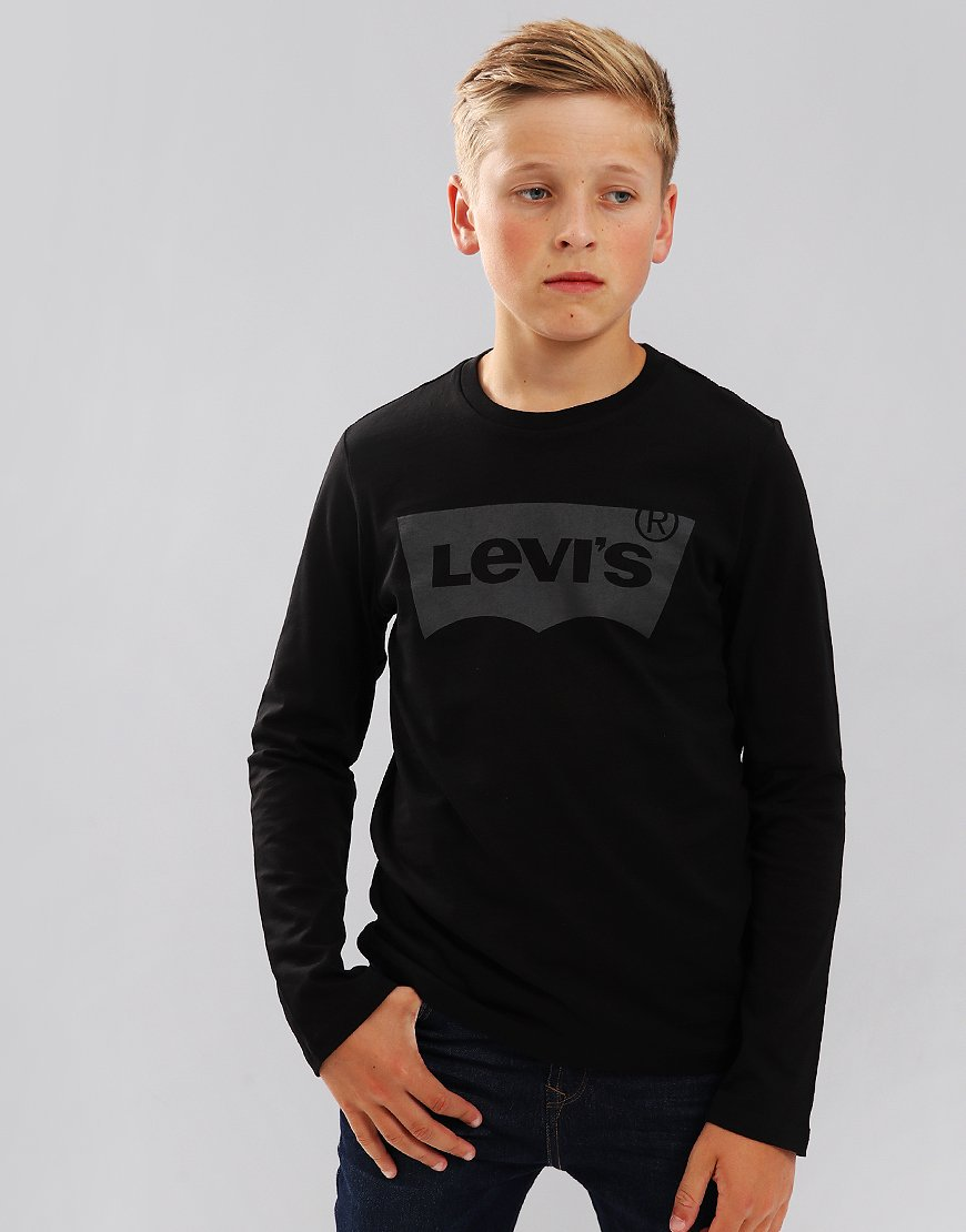 Levi's Kids Logo Print Long Sleeve T-Shirt Black