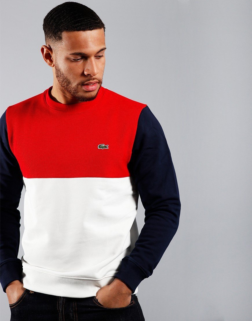 Lacoste  Block Sweat Flour/Red/Navy