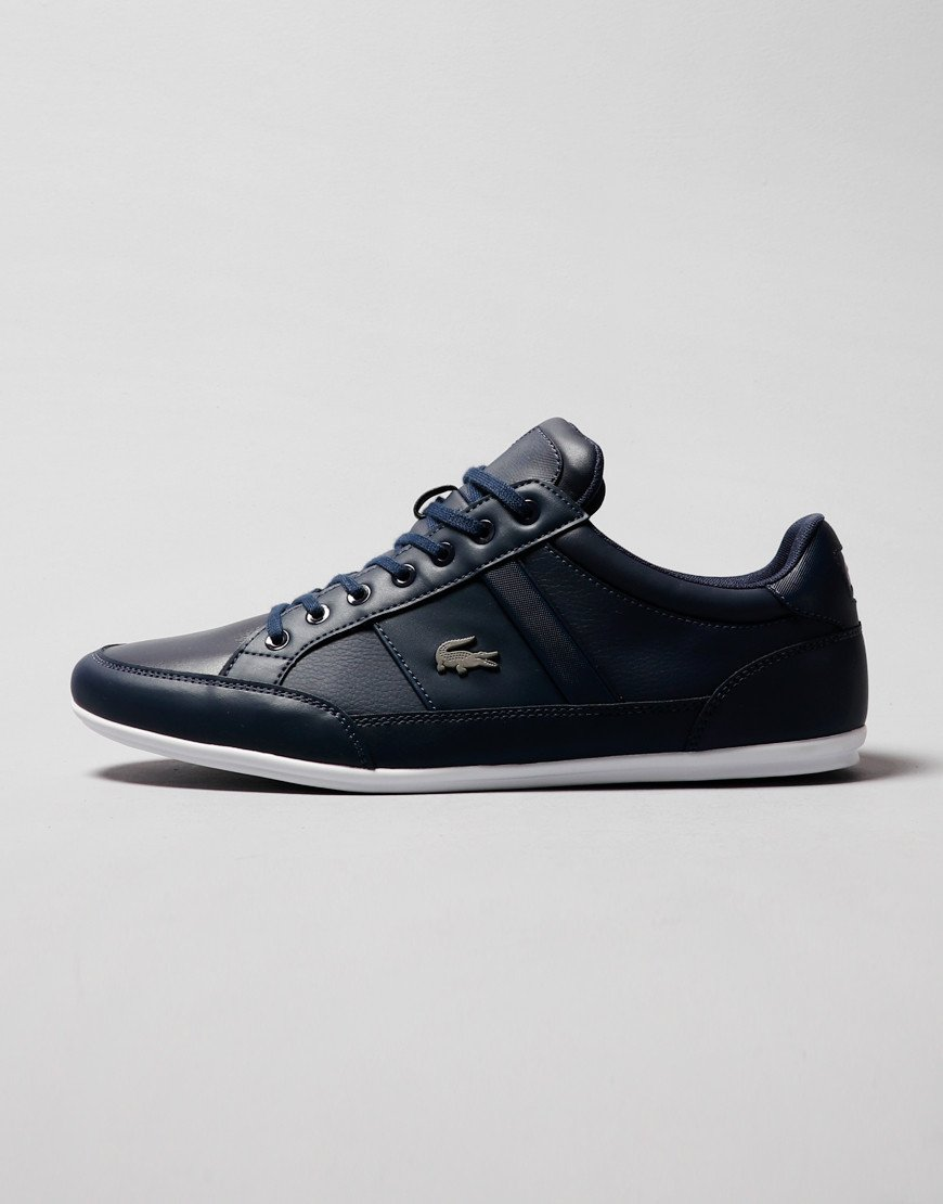 Lacoste Chaymon BL 1 Trainers Navy/White