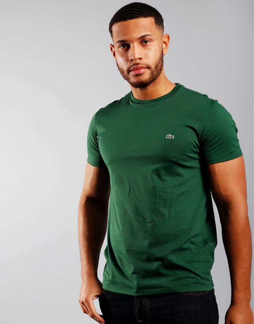 Lacoste Plain  T-Shirt Green