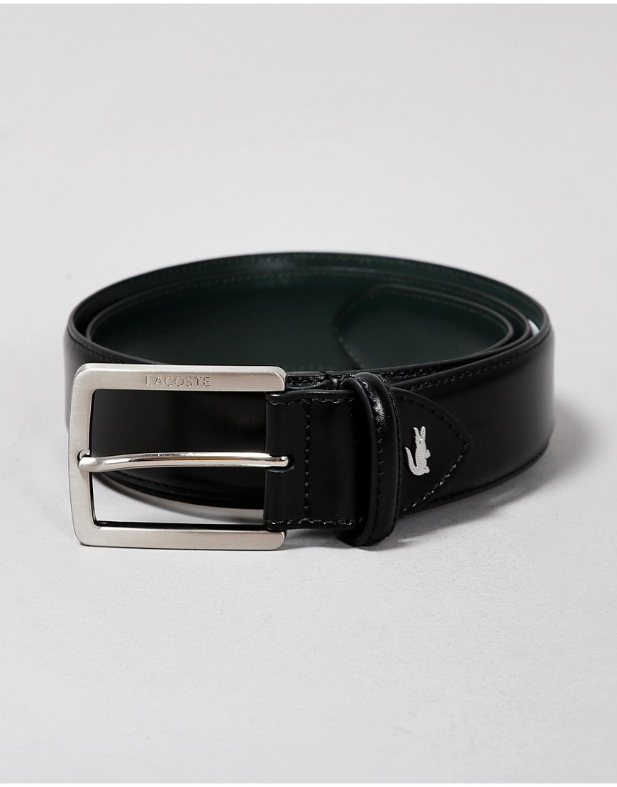 Lacoste Leather Belt  Black