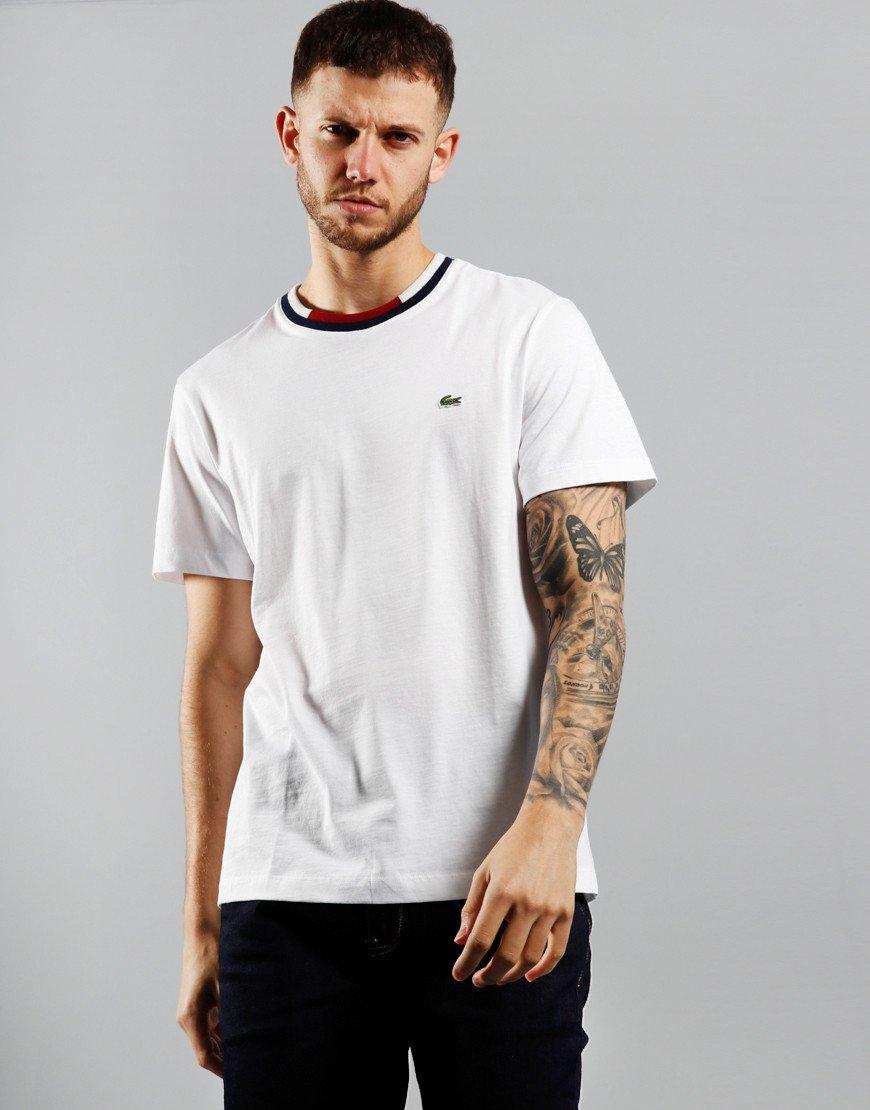 Lacoste Block Collar T-Shirt White