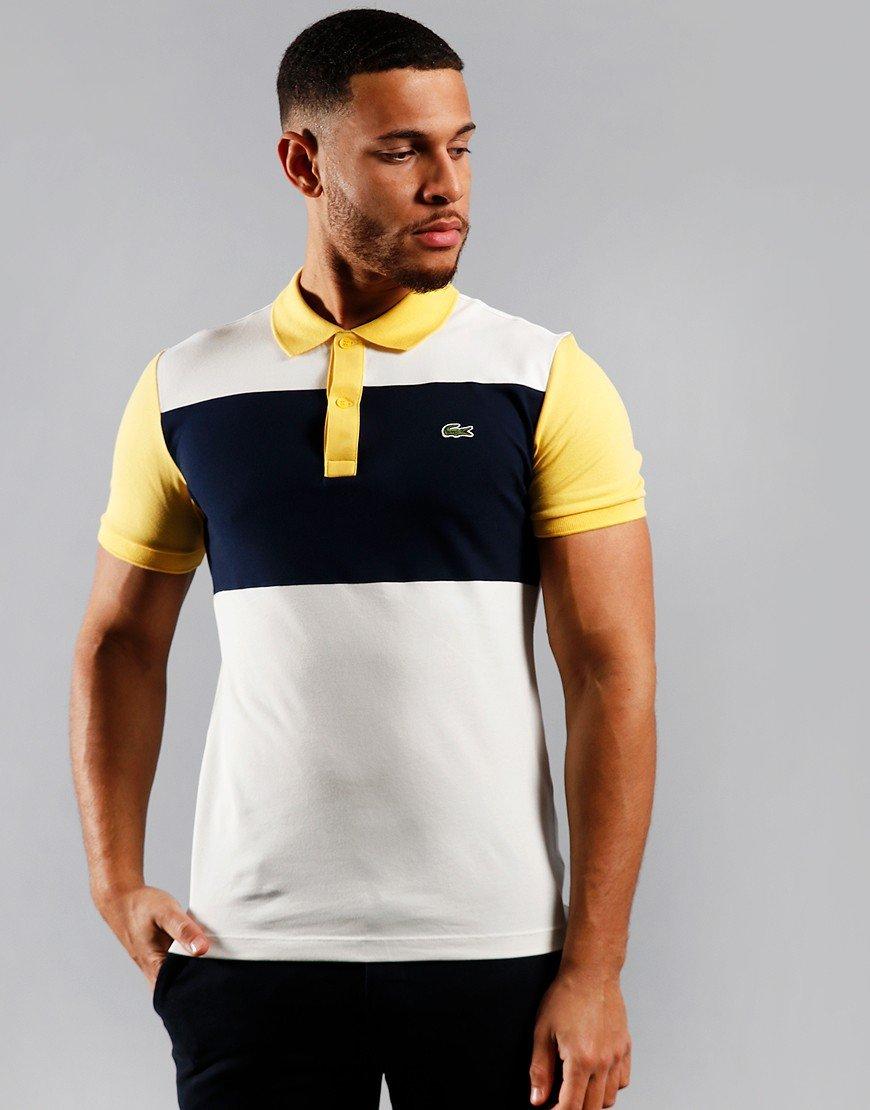 Lacoste Block Polo Shirt Flour/Navy/Daba