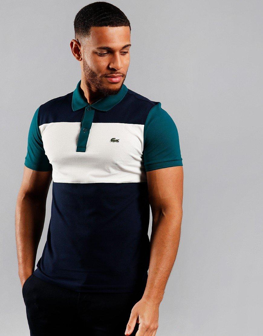 Lacoste Block Polo Shirt Navy/Flour/Pine