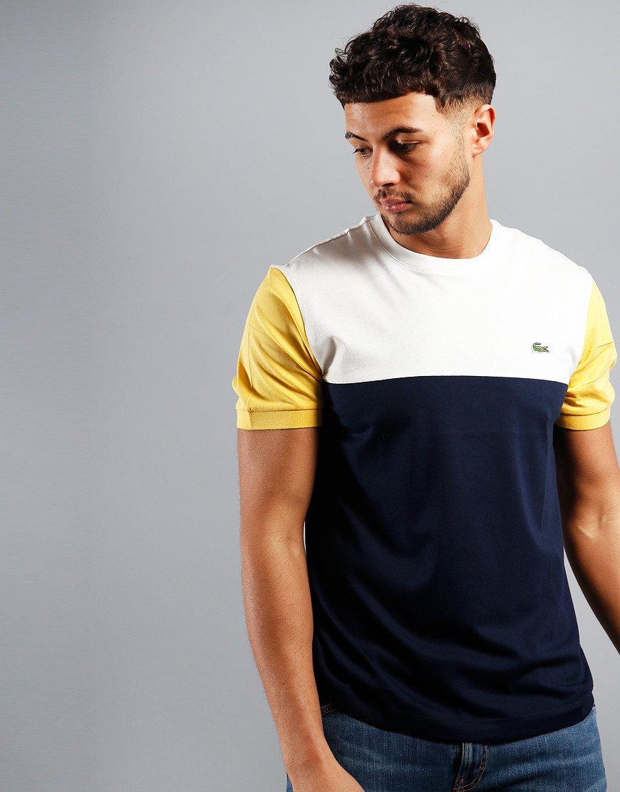 Lacoste Block T-Shirt Navy/Flour/Daba