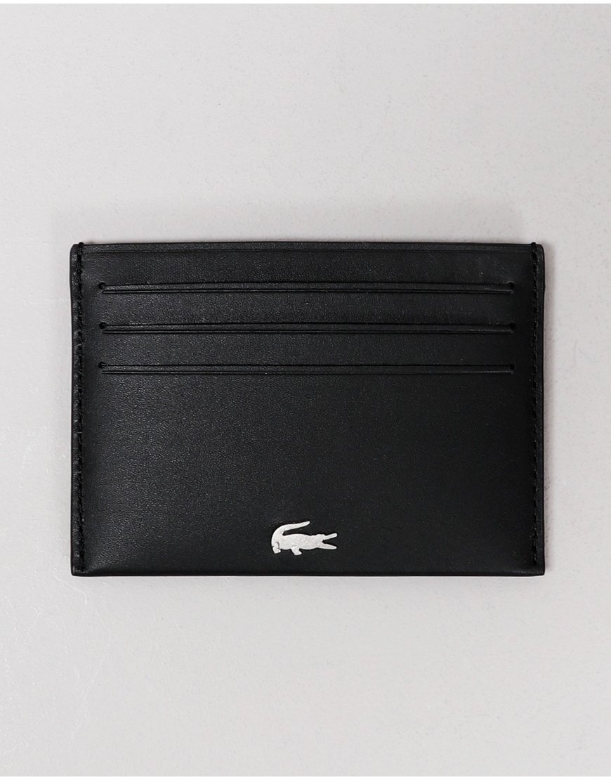Lacoste Leather Card Holder Black