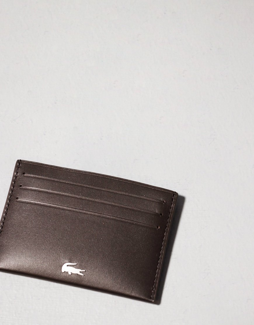 Lacoste Credit Card Holder Brown