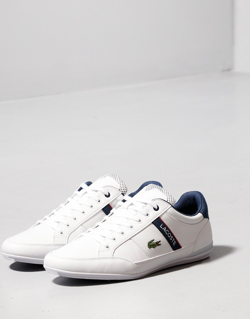 Lacoste Chaymon 120 Trainers White/Navy/Red