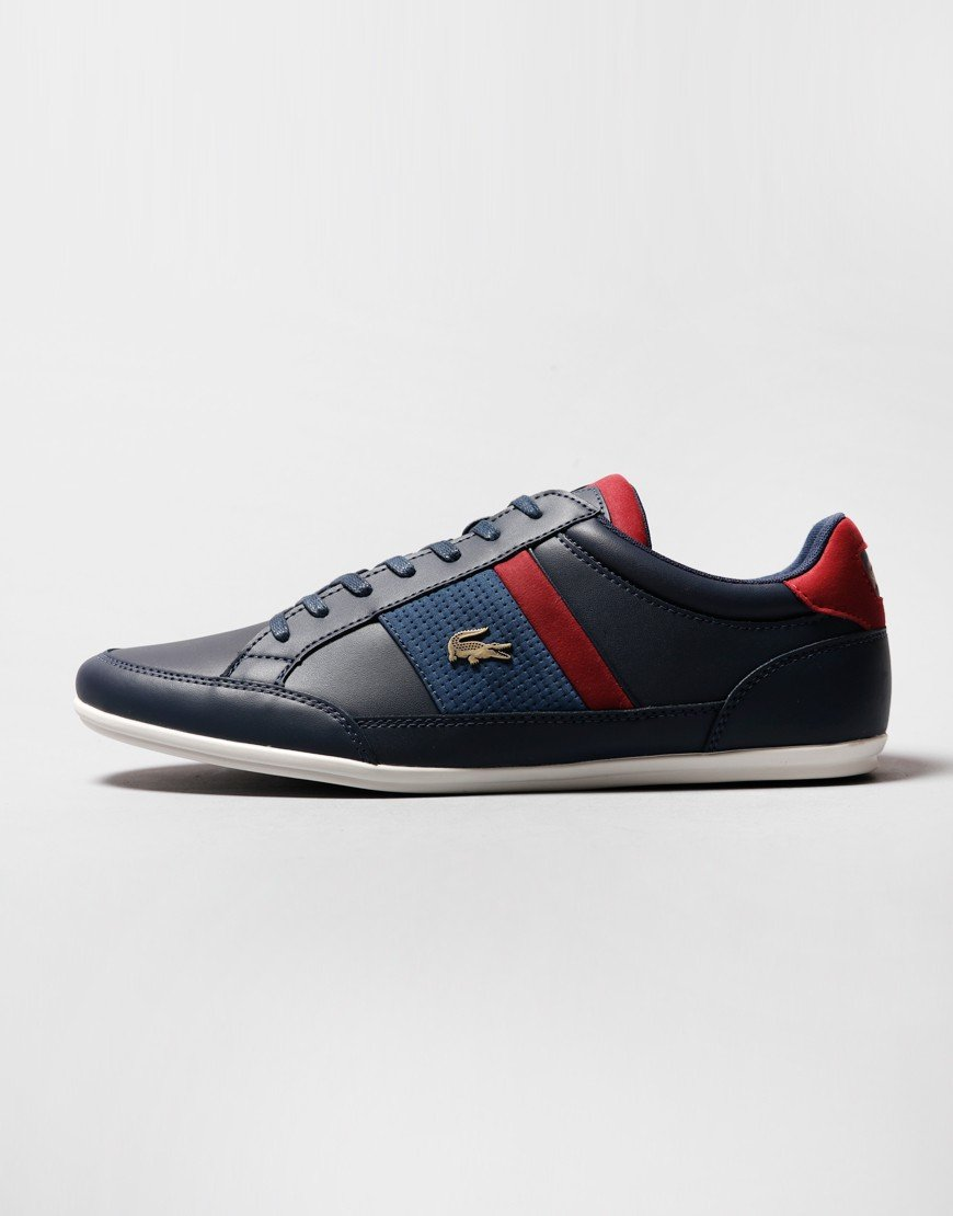 Lacoste Chaymon 120 Trainers Navy/Dark Red