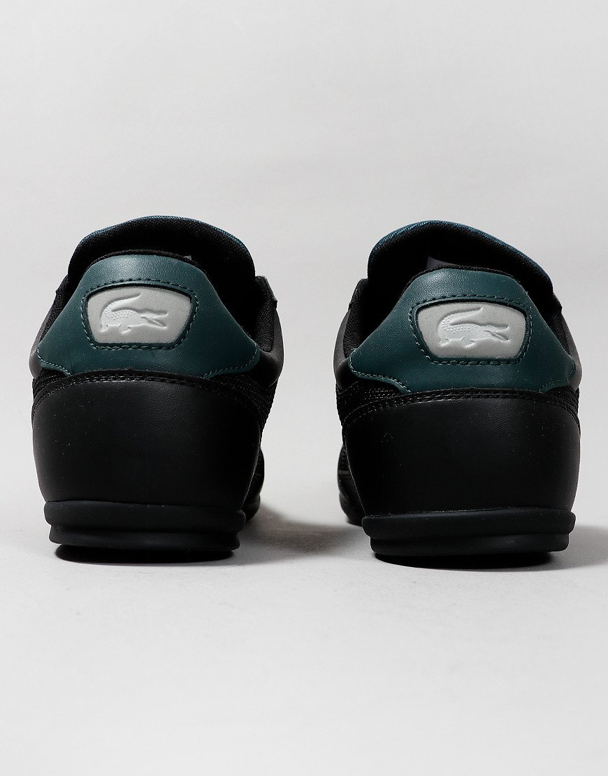 Lacoste Chaymon 319 Leather Trainers Black/Dark Green