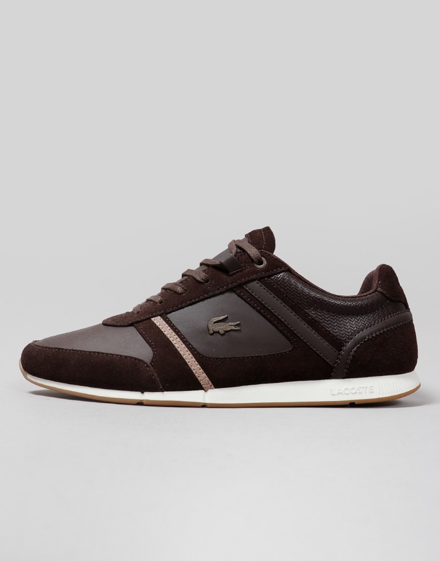 Lacoste Menerva 319 Leather Trainers Dark Brown
