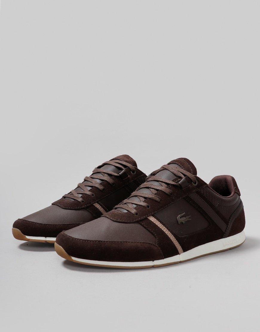 Lacoste Menerva 319 Leather Trainers Dark Brown