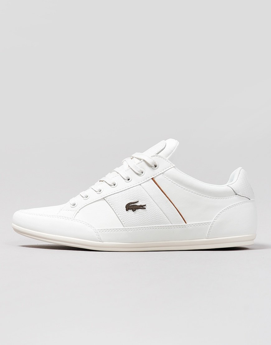 Lacoste Chaymon 319 Leather Trainers Off White/Brown