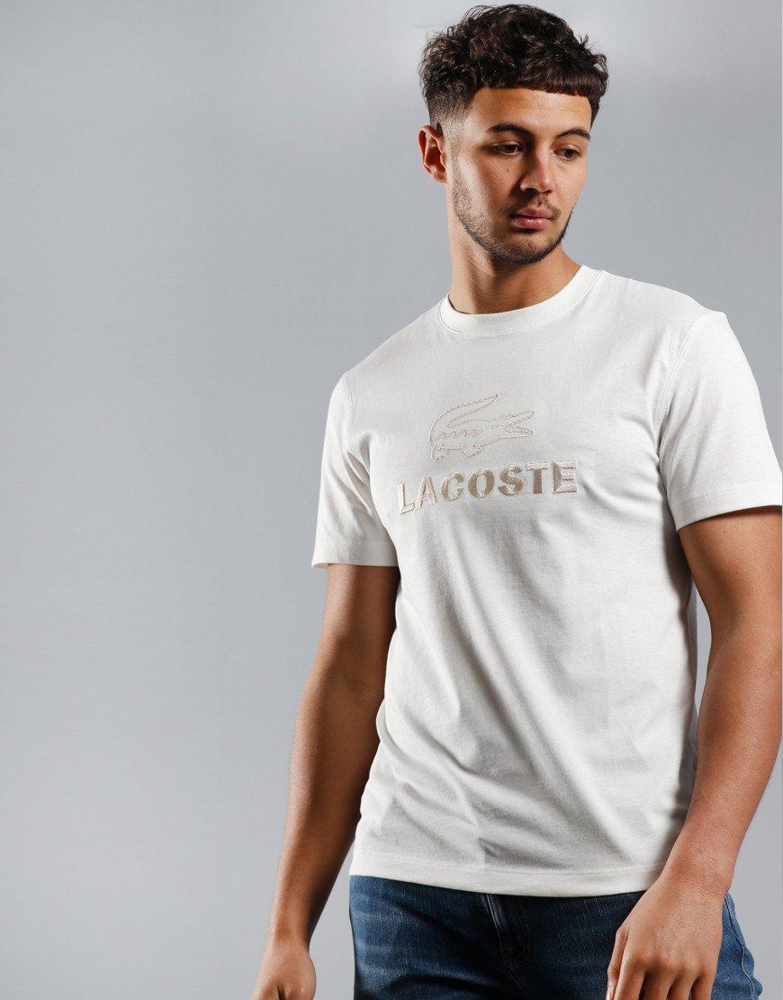 Lacoste Chest Logo T-Shirt Flour