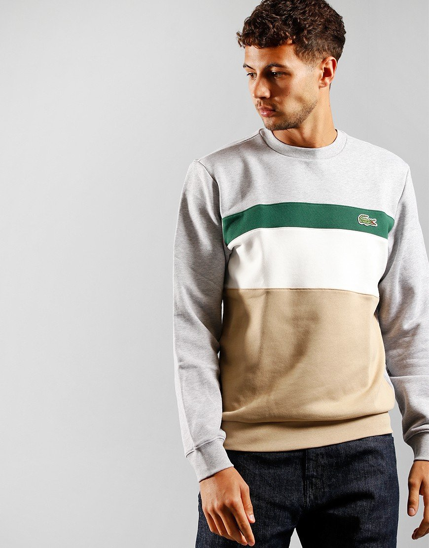 Lacoste Colour Block Fleece Viennese/Flour