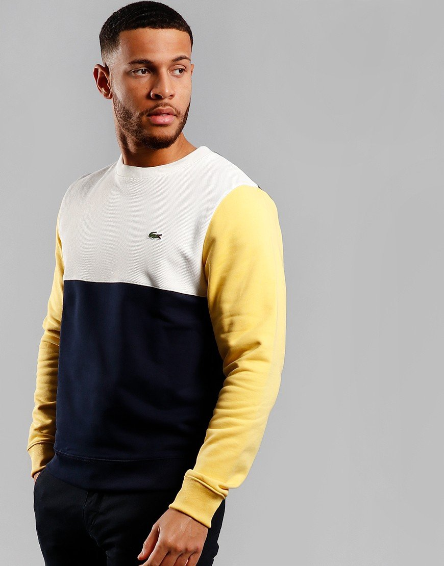 Lacoste Block Crew Sweat Navy/Flour/Daba