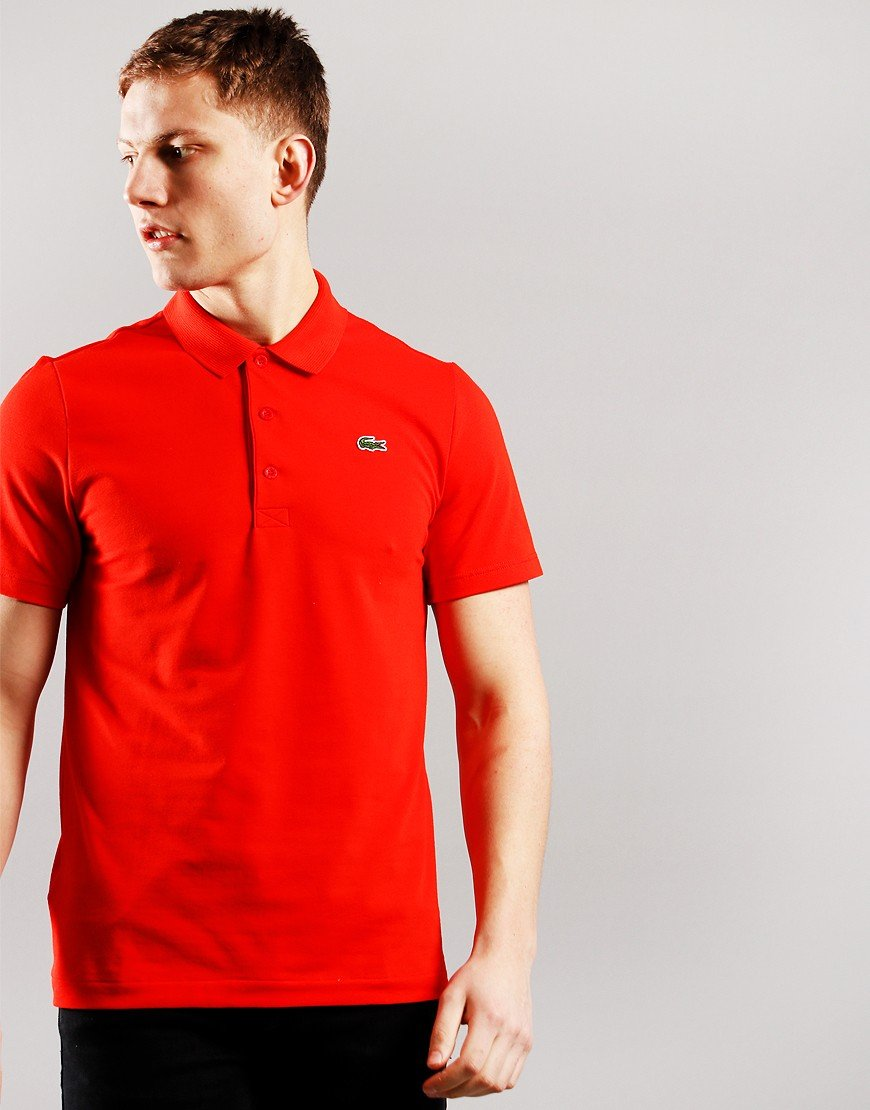 Lacoste Cotton Blend Polo Shirt Redcurrant Bush