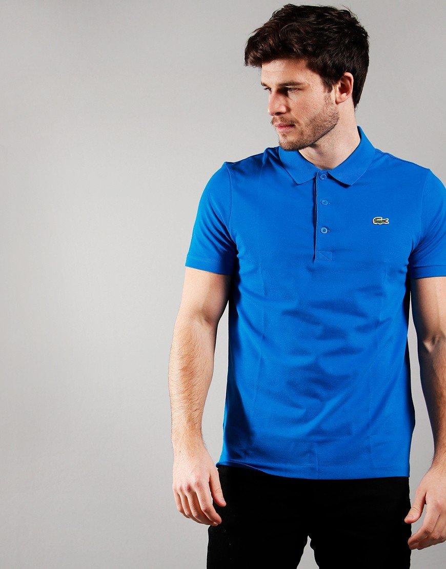 Lacoste Cotton Blend Polo Shirt Ultramarine