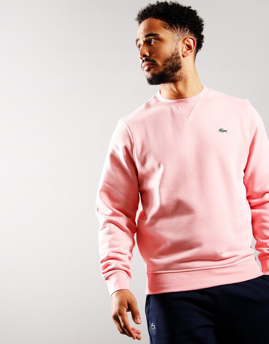 Lacoste Crew Fleece Sweat Bagatelle Pink