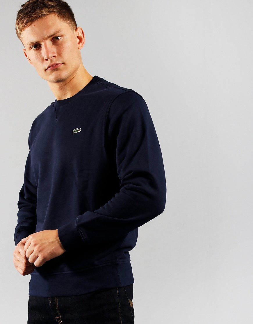 Lacoste SPORT Fleece Crew Neck Sweat Navy