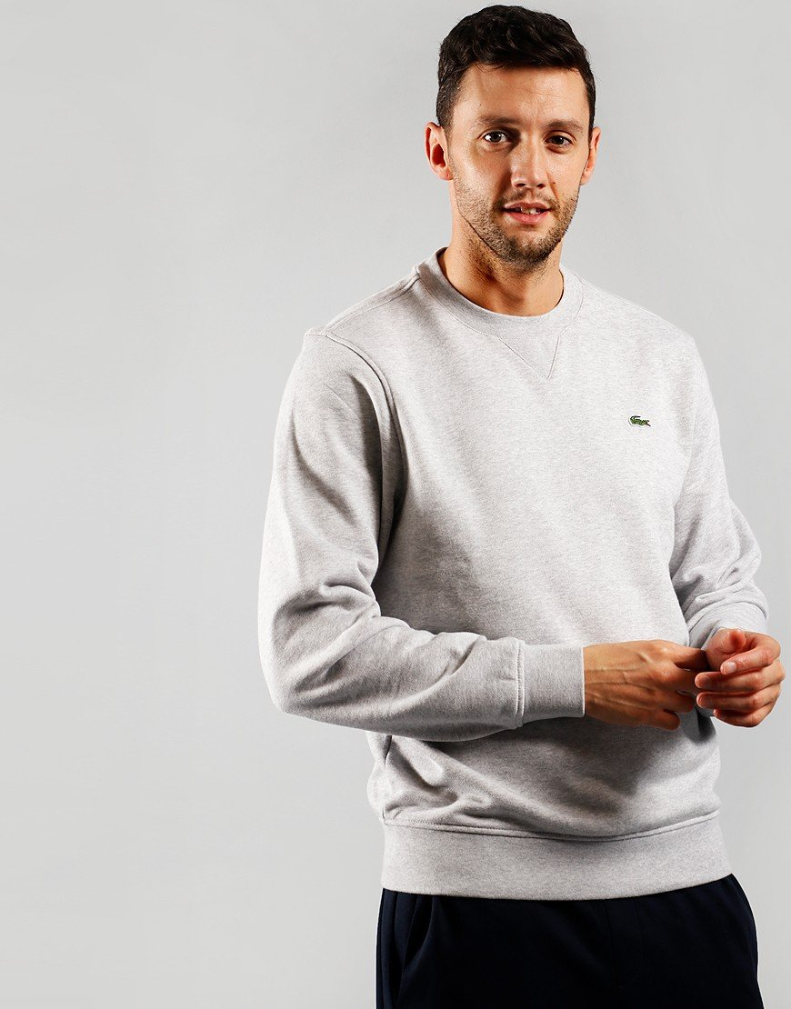 Lacoste SPORT Crew Fleece Sweat Silver Chine