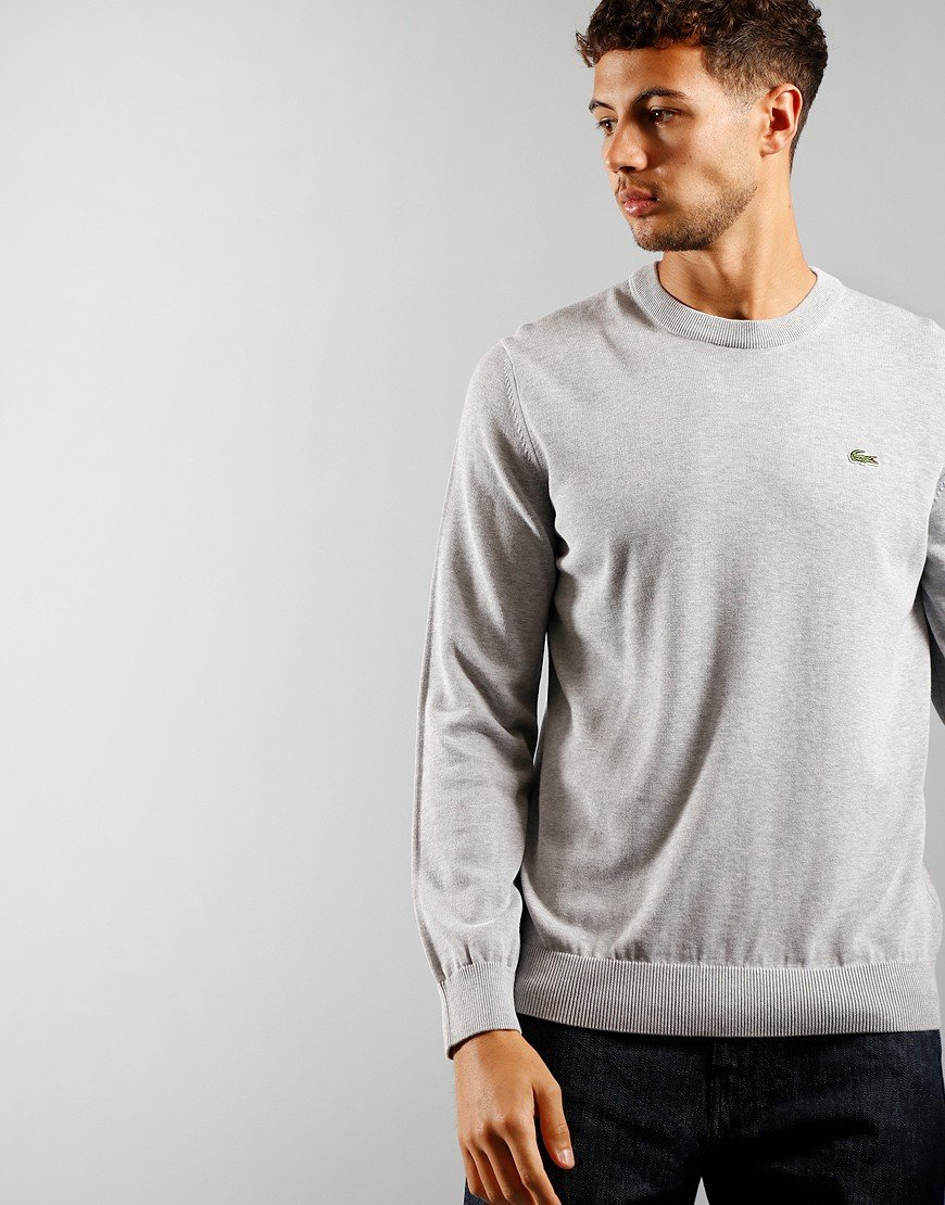 Lacoste Crew Knit Sweater Silver