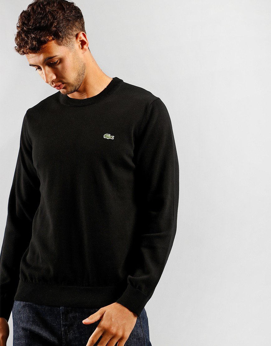 Lacoste Crew Neck Knit Black