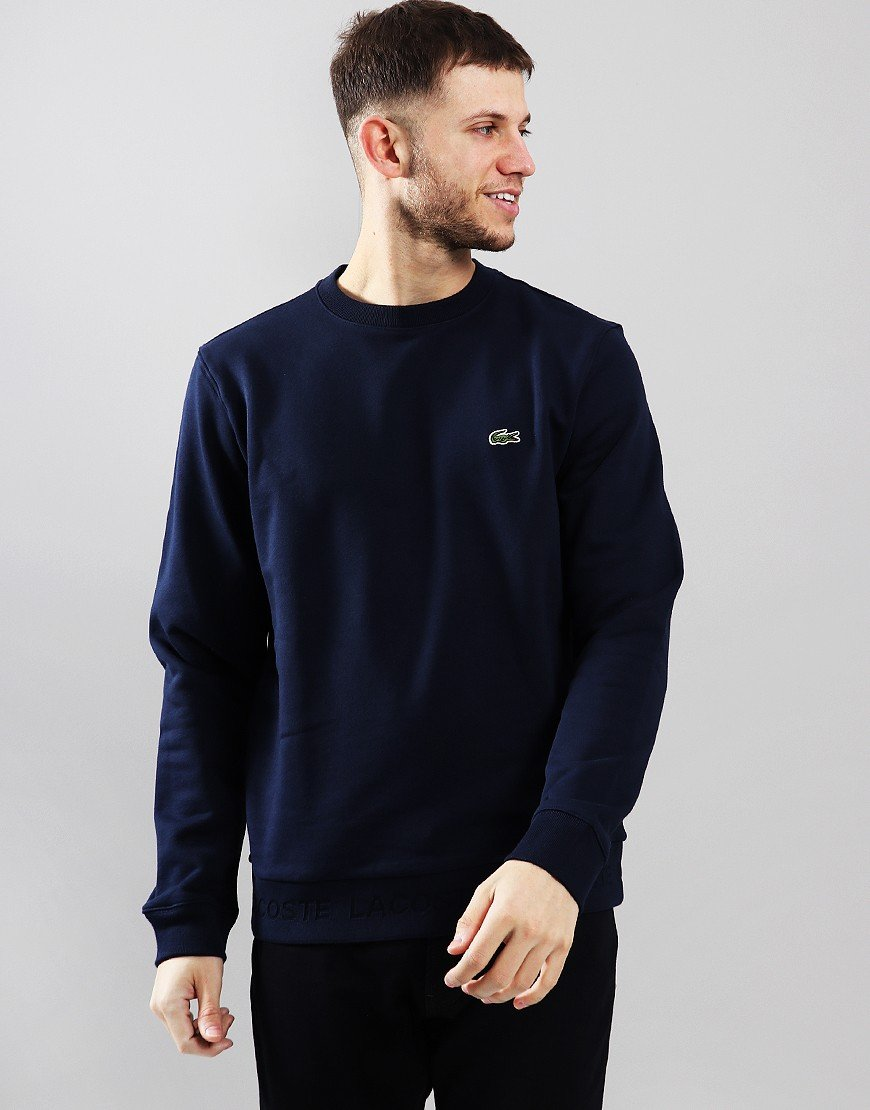 Lacoste Crew Neck Sweat Navy Blue