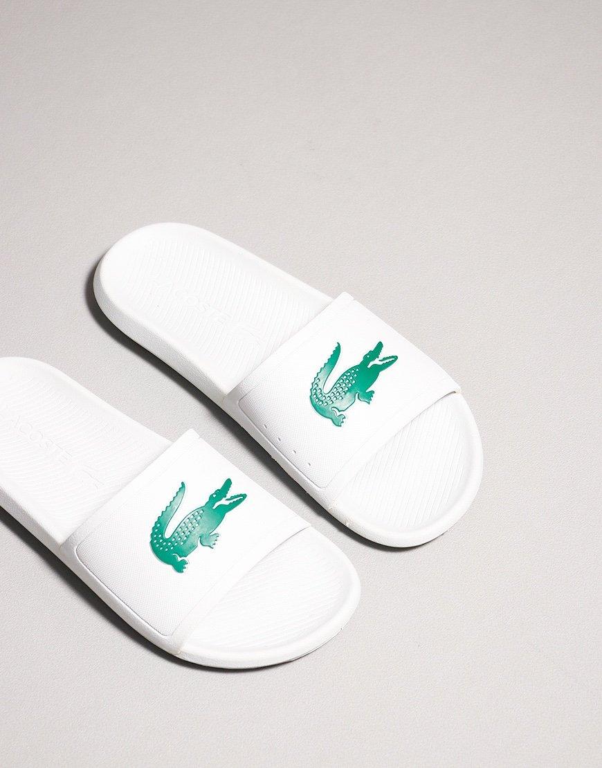 Lacoste Croc Slide White Green