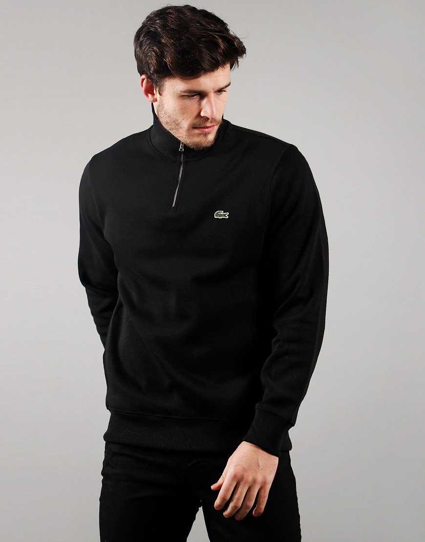 Lacoste Funnel Zip Sweat Black