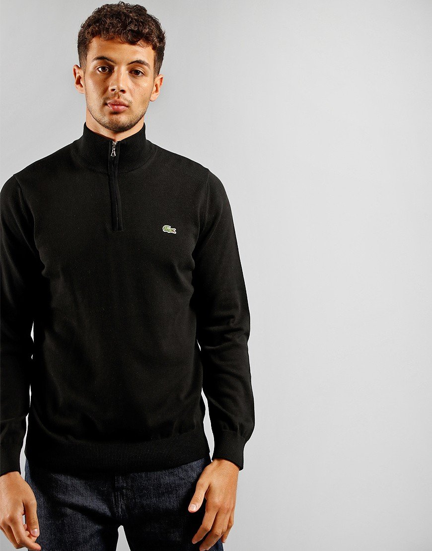 Lacoste Half Zip Knit Black