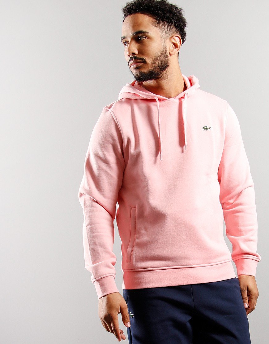 Lacoste Hooded Fleece Sweatshirt Bagatelle Pink