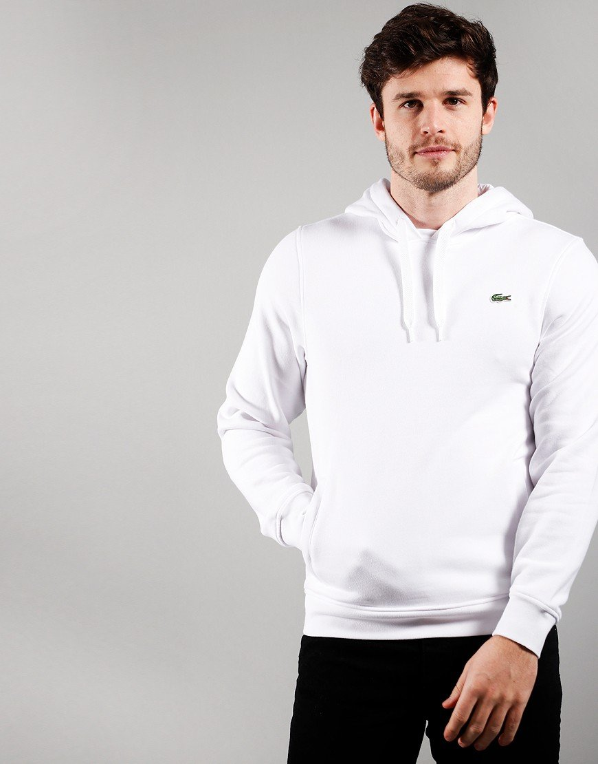Lacoste Hooded Fleece White