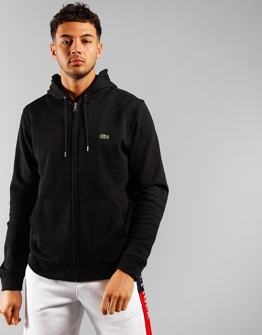 Lacoste Full Zip Hooded Sweat Black