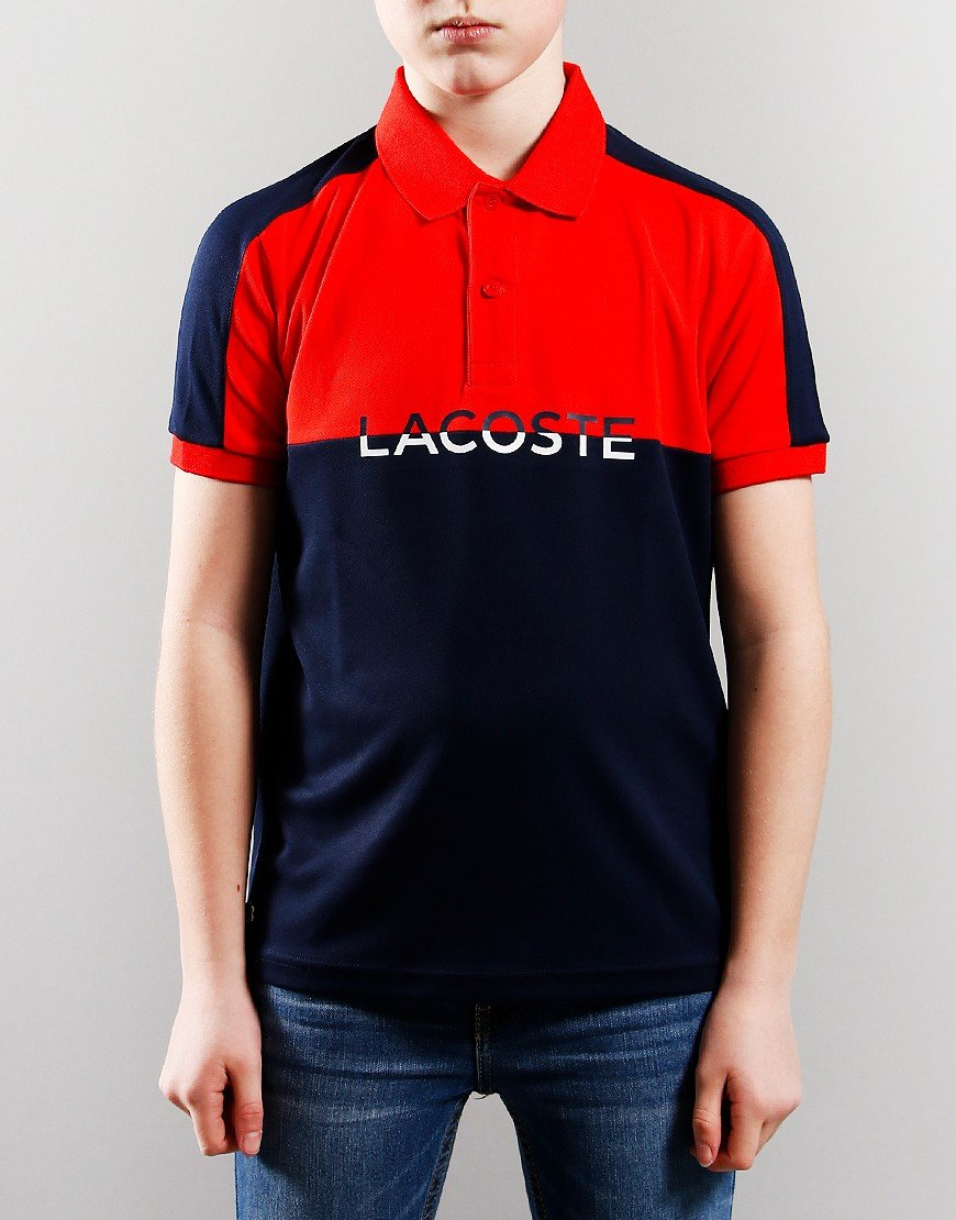 Lacoste Colour Block Polo Shirt Recurrant Bush/Navy