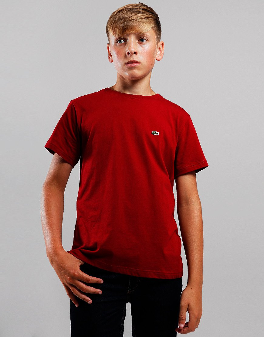 Lacoste Kids Crew Neck T-Shirt Bordeaux