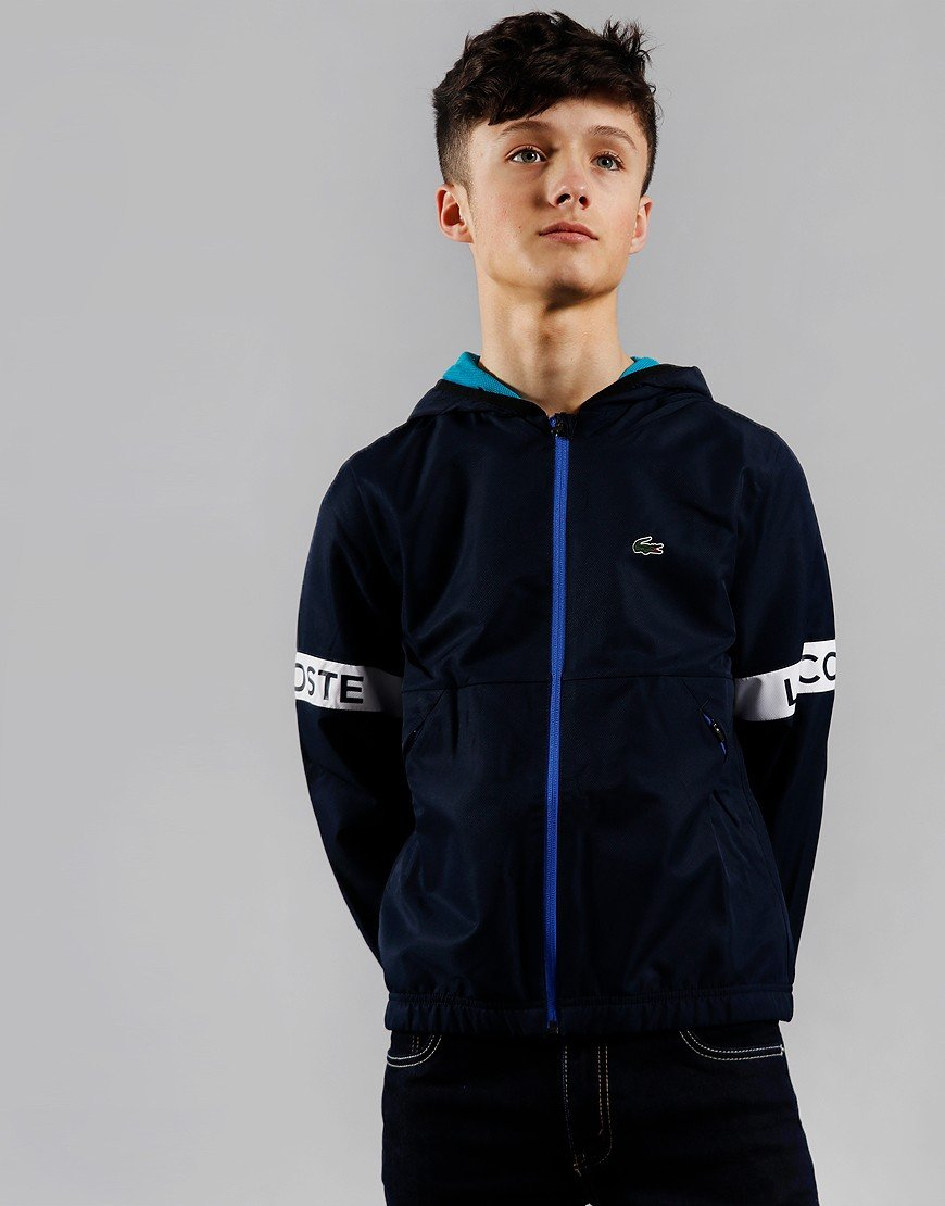 Lacoste Kids Sport Taped Jacket Navy/Cuba/White