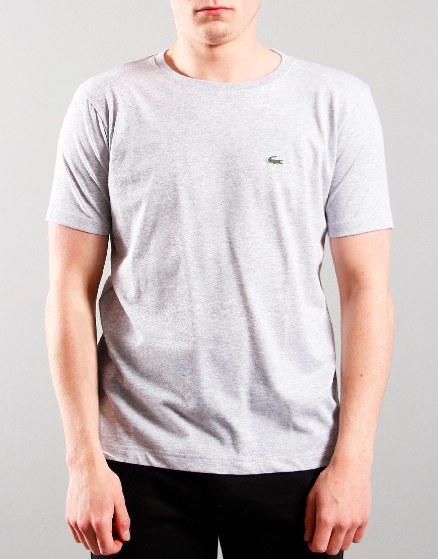 Lacoste Kids Crew Neck T-Shirt Silver Chine